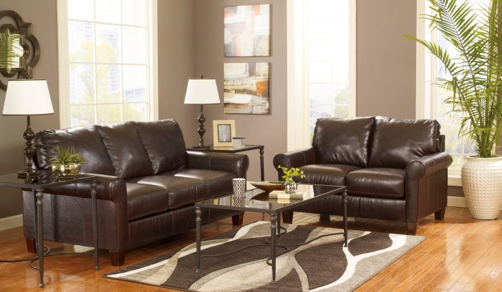 Nastas DuraBlend Bark Living Room Set