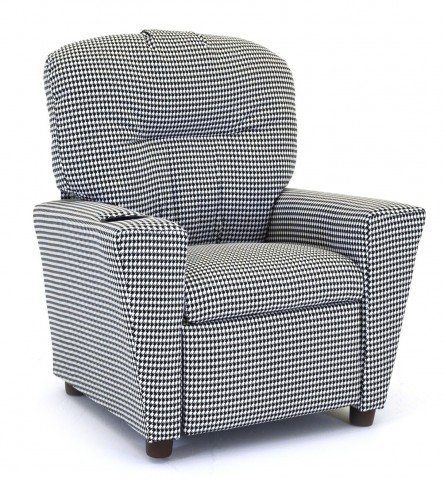 Houndstooth Black/White Kid's Recliner