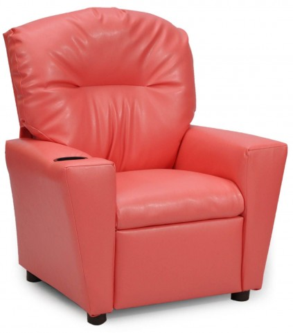 Juvenile Coral Kids Recliner with Cup Holder