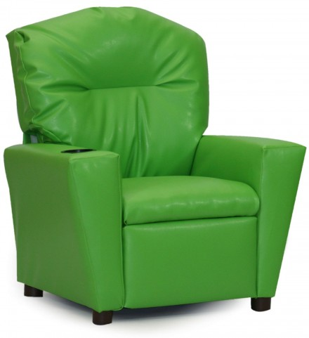 Juvenile Green Kids Recliner with Cup Holder