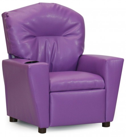 Juvenile Purple Kids Recliner with Cup Holder
