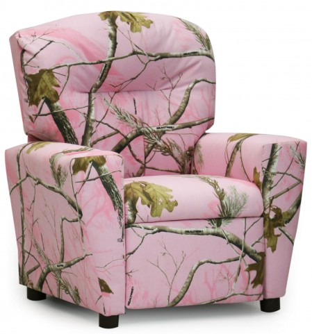 Real Tree Pink Kids Recliner