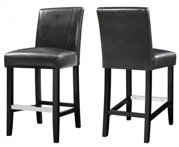 Black Dining Stool Set of 2