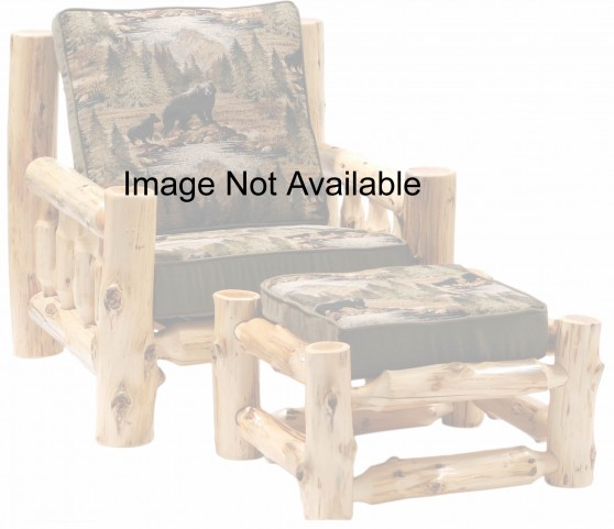 Cedar Log Frame Ottoman For Chair and a Half
