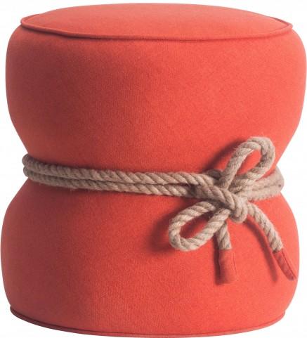 Tubby Orange Ottoman