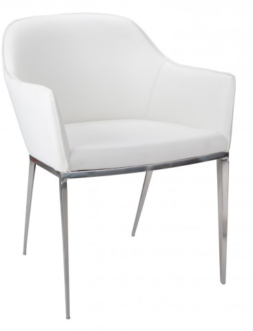 Stanis White Armchair