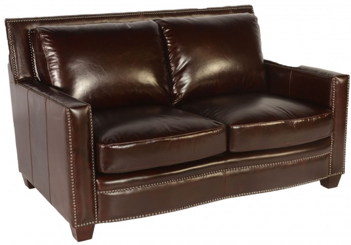 Simplicity Cranberry Leather Loveseat