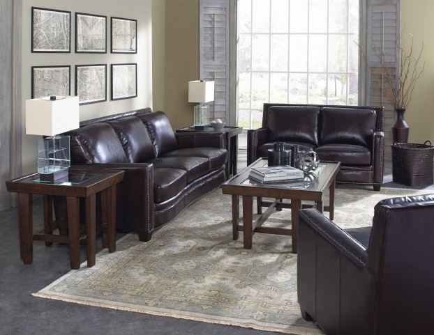 Simplicity Cranberry Leather Living Room Set