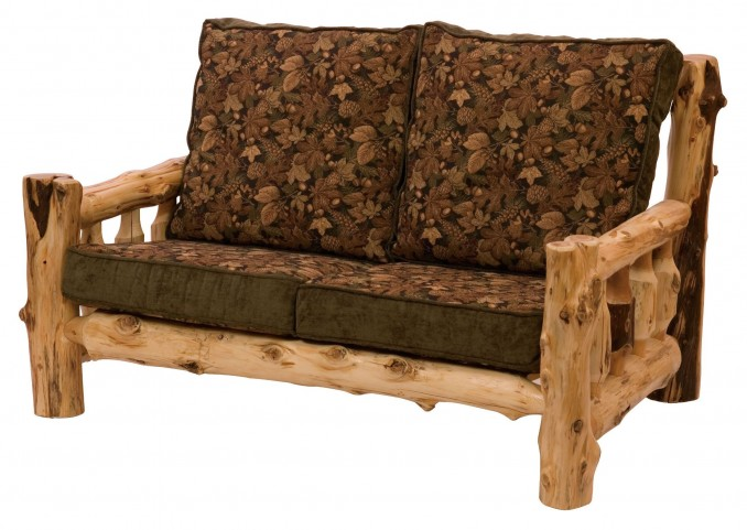 "Cedar Log Frame 60"" Loveseat"