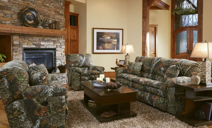 Trapper Mossy Oak New Breakup Reclining Living Room Set