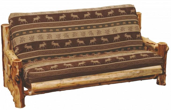 """Cedar Futon With 8"""" Inner-spring Mattress"""
