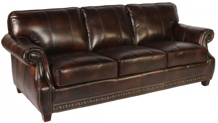 Anna Toberlone Leather Sofa