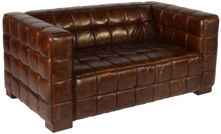 Nautical Coco Brampton Leather Loveseat