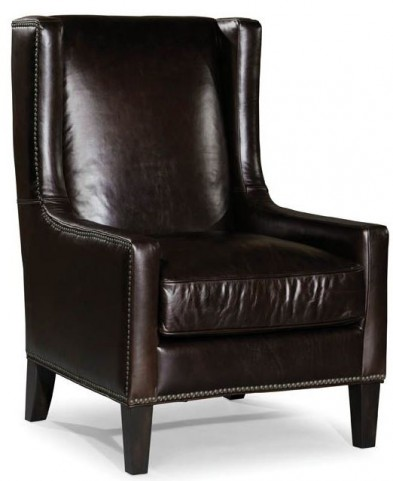 Peterson Gunner Chocolate Leather Chair