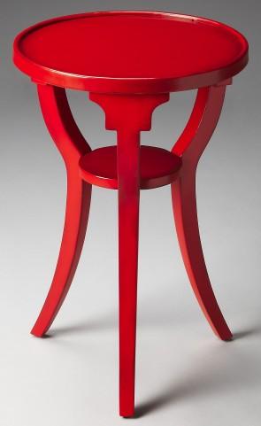 Dalton Loft Red Round Accent Table