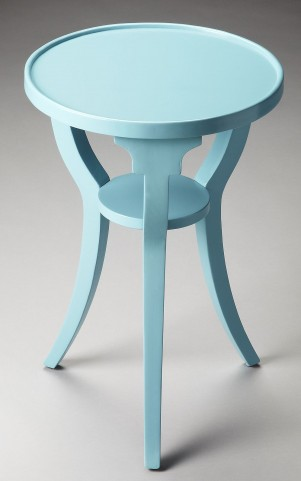 Masterpiece Dalton Sky Blue Round Accent Table