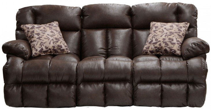 Cedar Creek Sable/Duck Camo Lay Flat Reclining Sofa with Drop Down Table