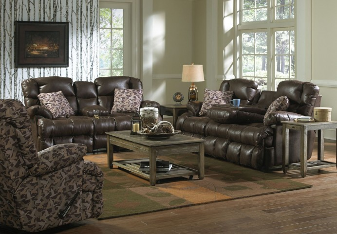 Cedar Creek Sable and Duck Camo Lay Flat Reclining Living Room Set