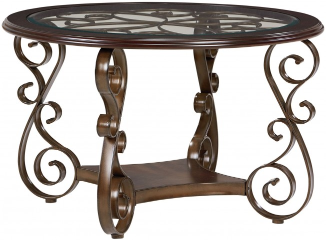 Bombay Dark Cherry Round Dining Table