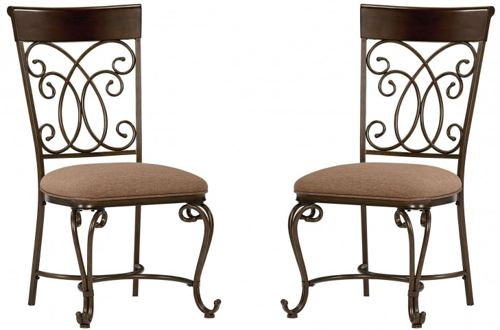 Bombay Dark Cherry Slat Back Side Chair Set of 2