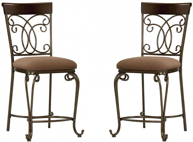 Bombay Dark Cherry Counter Height Chair Set of 2
