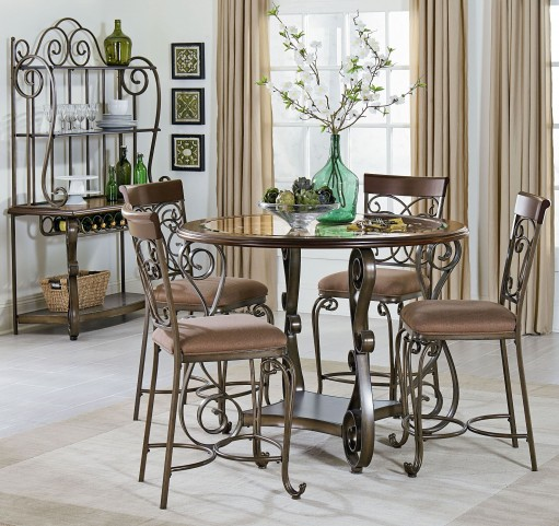 Bombay Dark Cherry Counter Height Dining Room Set