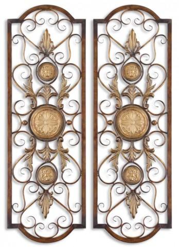 Micayla Antique Metal Panels, Set of 2