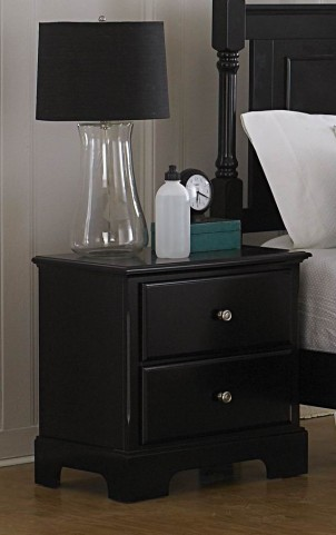 Morelle Black Nightstand