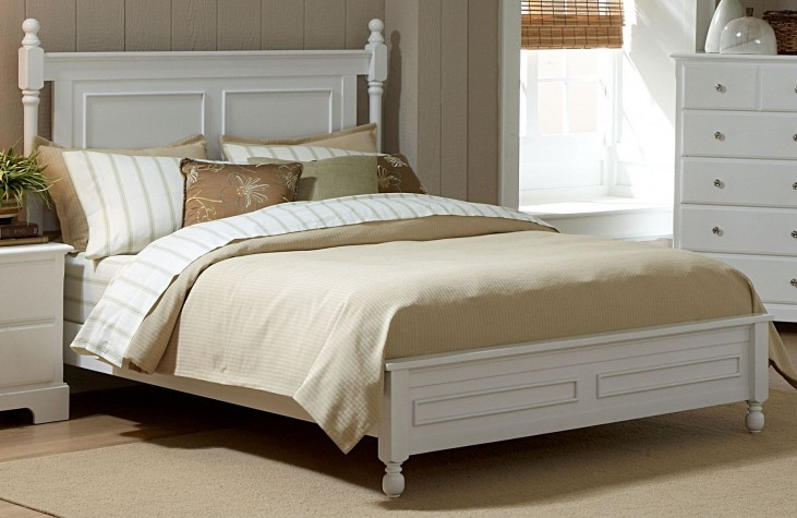 Morelle White King Panel Bed