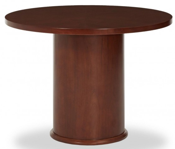Incept Dark Almond Round Meeting Table