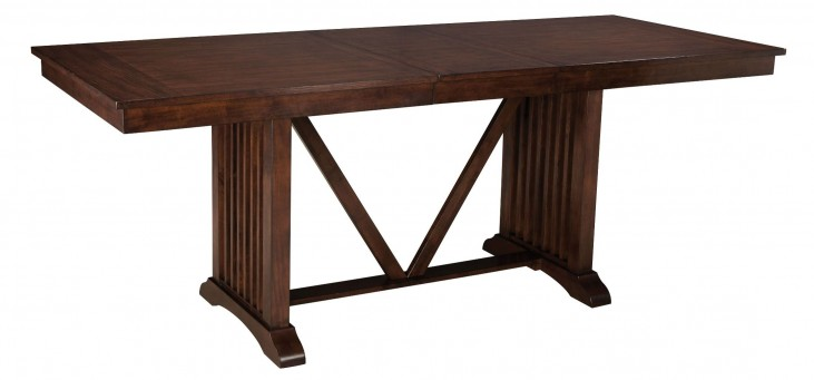 Artisan Loft Warm Medium Oak Rectangular Extendable Counter Height Table