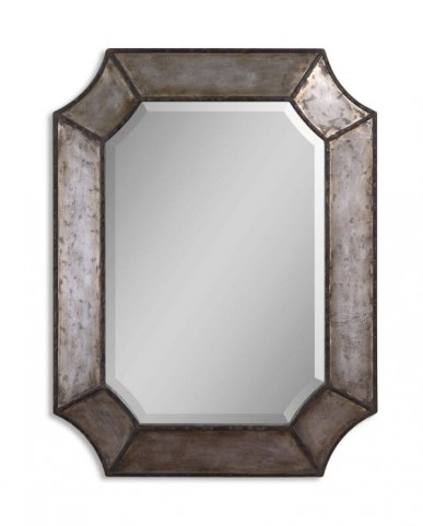 Elliot Distressed Hammered Aluminum Mirror