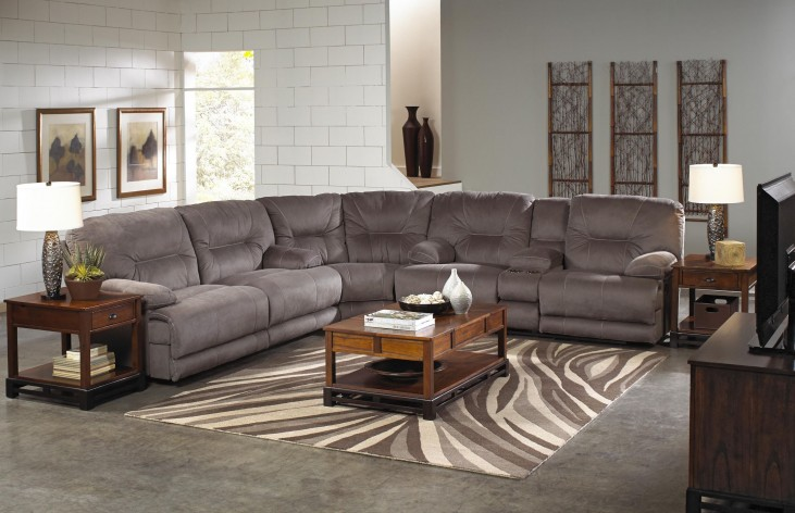 Noble Slate Power Reclining Sectional