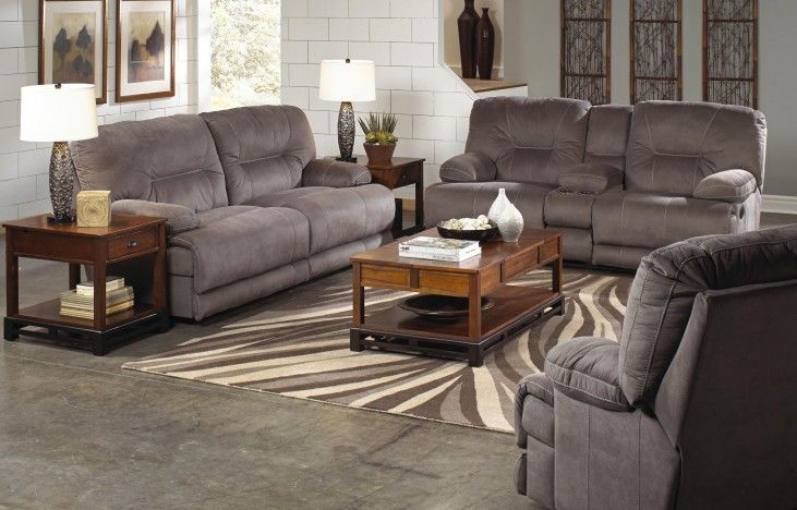 Noble Slate Power Reclining Living Room Set