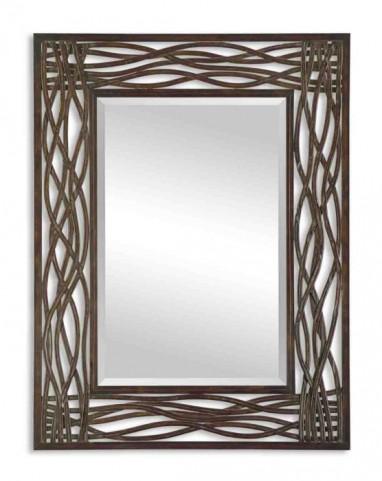 Dorigrass Brown Metal Mirror