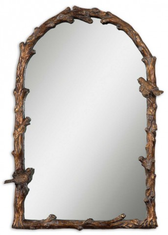 Paza Antique Gold Arch Mirror