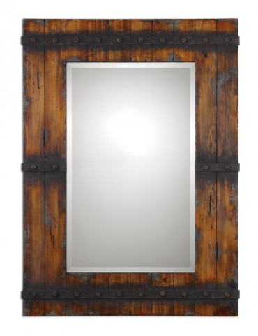 Stockley Rustic Mahogany Mirror