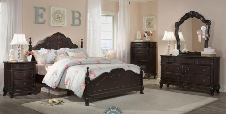 Cinderella Dark Cherry Poster Bedroom Set