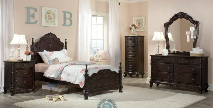 Cinderella Dark Cherry Youth Poster Bedroom Set