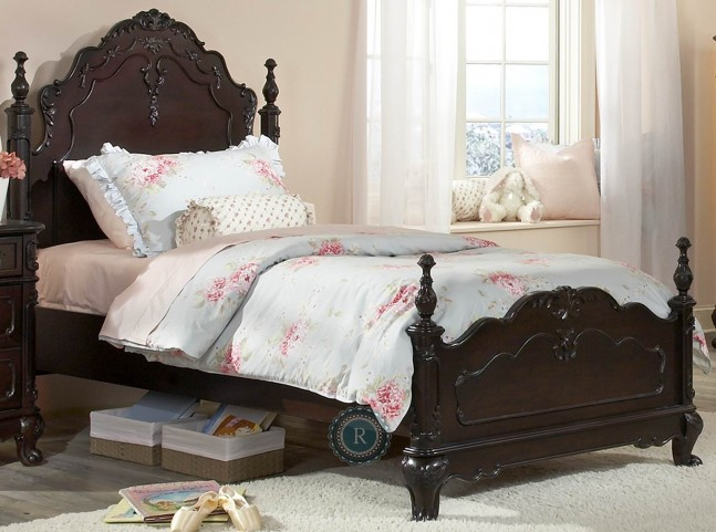 Cinderella Dark Cherry Twin Poster Bed