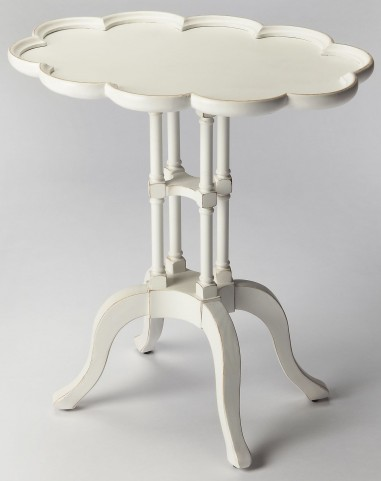 Lloyd Cottage White Oval Accent Table