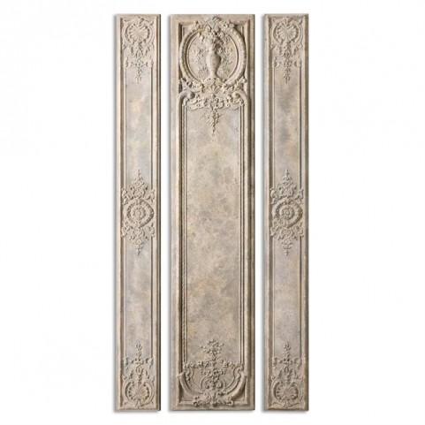 Argentario Aged Ivory Panels Set of 3