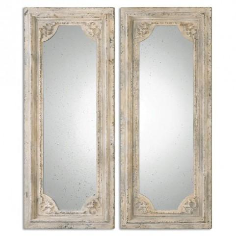 Rapallo Aged Ivory Mirrors Set of 2