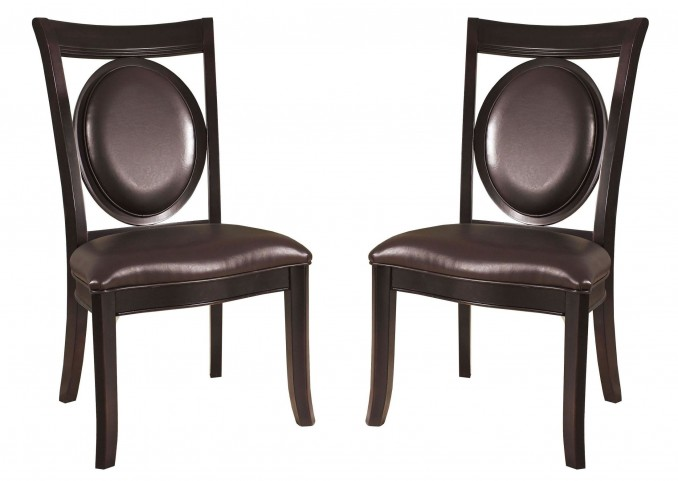 Signature Bicast Leather Side Chair Set of 2