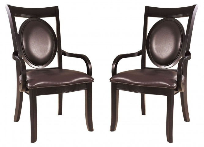 Signature Bicast Leather Arm Chair Set of 2