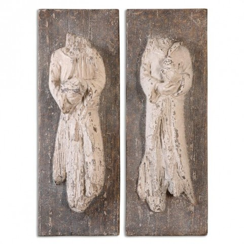 Saint Statues Set of 2