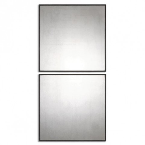 Matty Antiqued Square Mirrors Set of 2