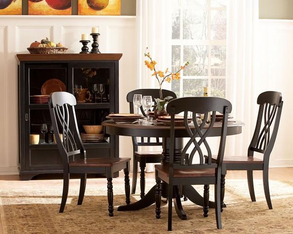 Ohana Black Round Dining Set