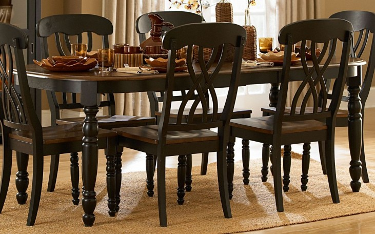 Ohana Black Rectangular Dining Table