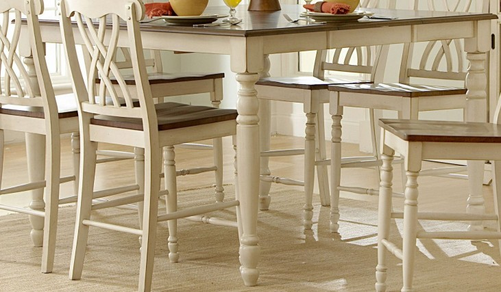 Ohana 2 Tone Butterfly Leaf Extendable Counter Height Table